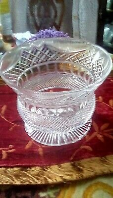 £120 • Buy Edinburgh Crystal 1 Of 1 Thistle Shape Bowl Centrepiece With Certificate.
