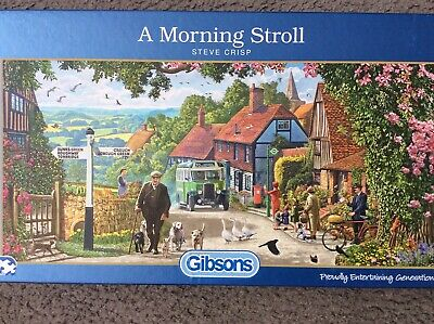 £3.50 • Buy A Morning Stroll 636 Piece Gibsons Jigsaw Used