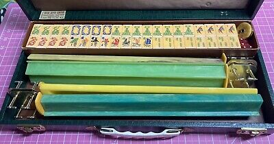 $575 • Buy 152 Piece MAH JONG Bakelite Set With 4 Racks And Case Ready For Play