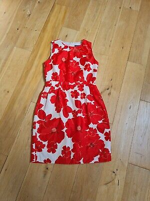 £10 • Buy JESSICA HOWARD Dress Size UK 10-12 US 8, Floral, Red Poppies, Lined