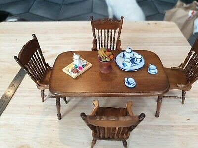 £4 • Buy Dolls House Table 4 Chairs And Accessories