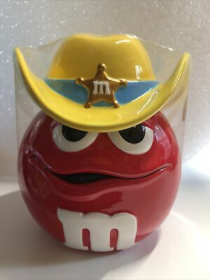 $29.99 • Buy M & M Red Sheriff/Marshall Cookie Candy Jar   (Rare) SEALED.                 7C