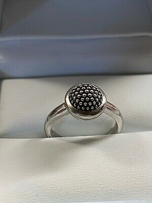 £17.50 • Buy Designer Italian Ti Sento Silver Ring With Bubbled And Oxidised Dome Size Q½
