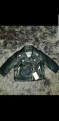 £6 • Buy Baby Girls Leather Jacket 3-6 Months
