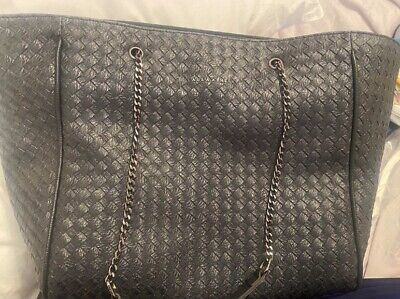 £5 • Buy Women's Black Laura Ashley Woven Pattern Large Tote Bag Chain Handle