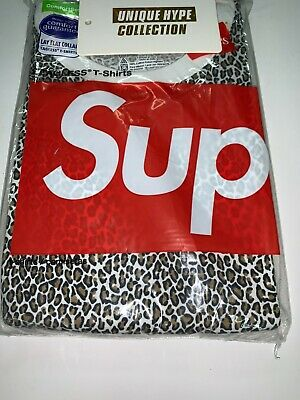 $ CDN16.40 • Buy Supreme 2019 S/s Hanes Tee T-shirts Pack Of 2 Box Logo Leopard S Small Sealed