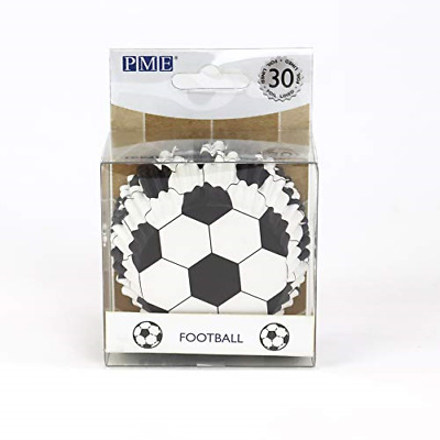 £3.95 • Buy PME BC829 Football Cupcake Cases, Foil Lined - 30 Pack