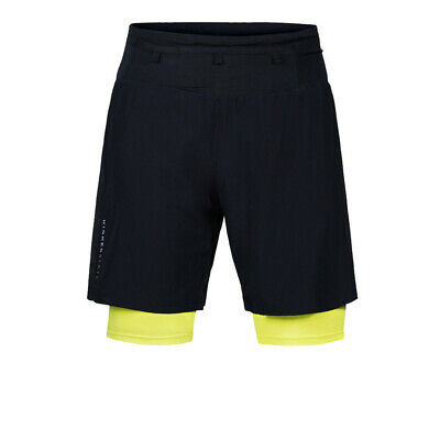 £21.99 • Buy Higher State Mens Trail Shorts Pants Trousers Bottoms Black Yellow Sports