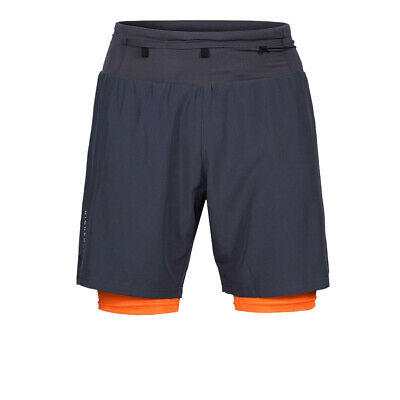 £21.99 • Buy Higher State Mens Trail Shorts Pants Trousers Bottoms Navy Blue Orange Sports