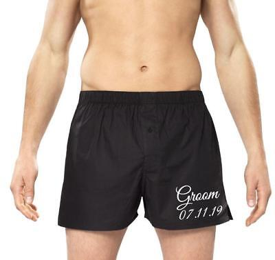 £7.50 • Buy Personalised Mens Boxers/boxer Shorts -Groom - Your Wedding Date