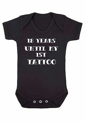 £5.49 • Buy 18 Years Until My 1st First Tattoo Funny Alternative Print Baby Vest Christmas