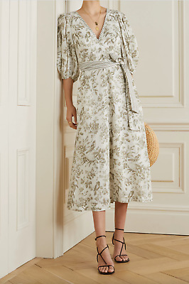 $290 • Buy 2021 ZIMMERMANN Linen Day Midi Dress OLIVE TOILE PRINT Brand New $595 SOLD OUT