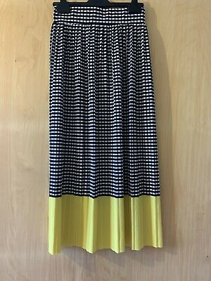£4.80 • Buy Maxi Summer Skirt Chequered And Yellow Size Small UK 8 10
