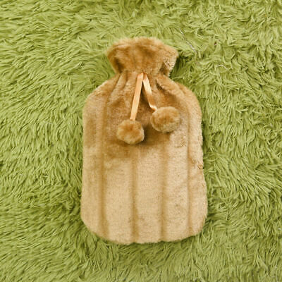 £8.49 • Buy Large 2L Natural Rubber Hot Water Bottle With Warm Faux Fur Fleece Knitted Cover