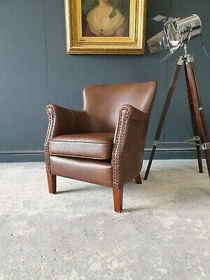£299 • Buy 824.professor Halo Style Brown Chesterfield Armchair Delivery Avail 🚚 🇬🇧