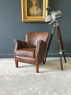 £299 • Buy 825.professor Halo Style Brown Chesterfield Armchair Delivery Avail 🚚 🇬🇧