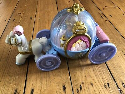 £6 • Buy Little People Disney Princess Cinderella Musical Light Up Horse & Carriage Toy