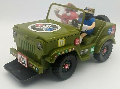 $39.99 • Buy Vintage M&M's Candy Dispenser USA Military Jeep Lights & Sounds RARE 2009
