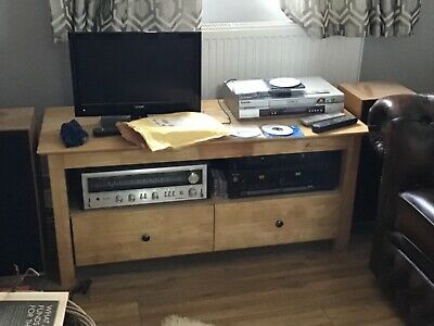 £14.99 • Buy Next Oak TV Stand Cabinet With 2 Drawers
