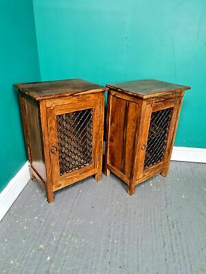 £155 • Buy A Pair Of Antique Style Indian Rosewood Bedside Tables Cabinet ~Delivery Availab