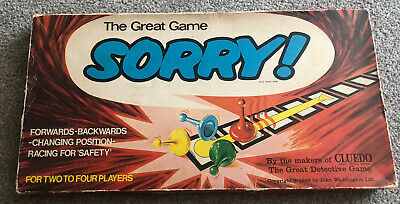 £8 • Buy Vintage Waddingtons The Great Game Of Sorry Board Game 1969 Complete