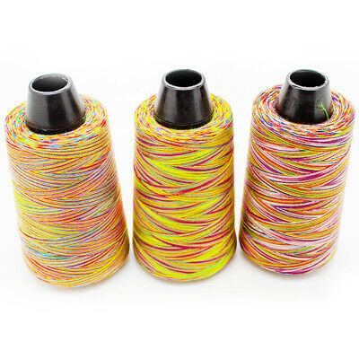£7.95 • Buy Rainbow Overlocker 100% Polyester Sewing Thread 3000 Yards Cone 3 Colour Choices