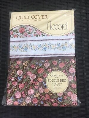£11.50 • Buy Vintage Accord Single Quilt Cover   Chelsea