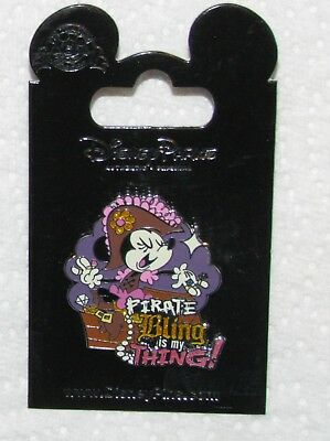 £9.45 • Buy Pinback Pin  Disney Card Minnie Mouse Pirate Bling Is My Thing
