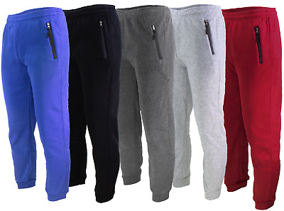 $15.97 • Buy Mens Casual Sweatpants Slim-fit Joggers Fleece Pants With Zippers On Pockets