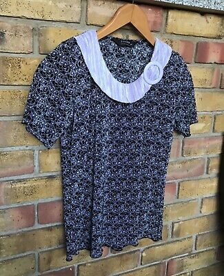 £3.99 • Buy Forever By Michael Gold Crinkle Blouse Size 10-12