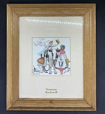 """$ CDN24.36 • Buy Norman Rockwell Art Picture Traveling Salesman 8"""" X 10"""" With Glass And Frame"""