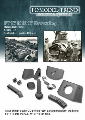 $32.73 • Buy FC Model Trend 1/35 US M1917 W/Browning MG Conversion Set For Meng FT-17 Kits