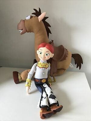 £22.95 • Buy Toy Story Pull String Talking Jessie With Galloping Sounds Bullseye Disney Pixar