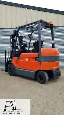 £7750 • Buy 2013 Toyota 7fbmf30 Electric Forklift Truck Container Spec With Fork Positioner