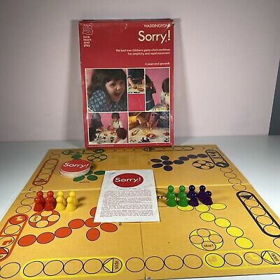 £14.99 • Buy Vintage Waddingtons The Great Game Of Sorry Board Game 1973 Complete