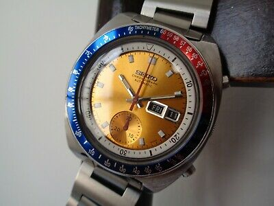$ CDN1522.09 • Buy  Rare Vintage Seiko 6139-6005 'Pogue' Day Date Chronograph Automatic Steel Watch