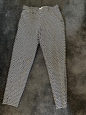 £2 • Buy Hm Patterned Trousers 10 S Skinny Cropped