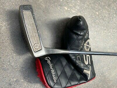 £20 • Buy Taylormade Maranello Ghost Tour Black Putter - 34 Inch - With Head Cover - Used