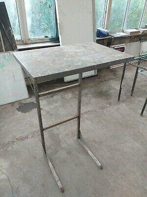 £44.99 • Buy Metal Table Kitchen Commercial Steel Aluminium Work Tall Garage Square Shelf Top
