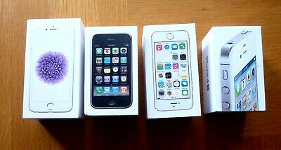 £12.95 • Buy 4 Iphone Empty Boxes - 3GS - 4S - 5S & 6 - Boxes Only No Accessories