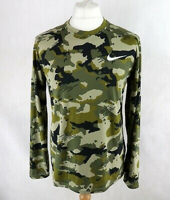 £22.95 • Buy Mens NIKE Dri-Fit Long Sleeve Camouflage Track Top Size MEDIUM Sports Running