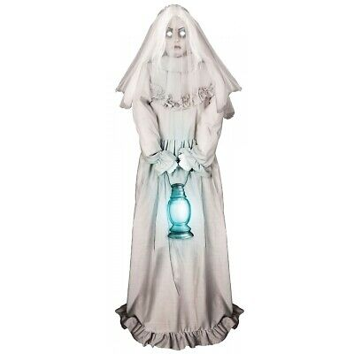 $ CDN175.91 • Buy Ghostly Lady Animated Halloween Prop Scary Life Size Haunted House Decoration