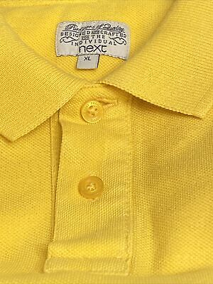 £5 • Buy Men's Next Bright Yellow Coloured Short Sleeved Polo Shirt Size XL