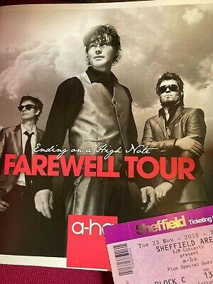 £29.50 • Buy A-ha  - Ending On A High Note Farewell Tour Book + Ticket Rare Item