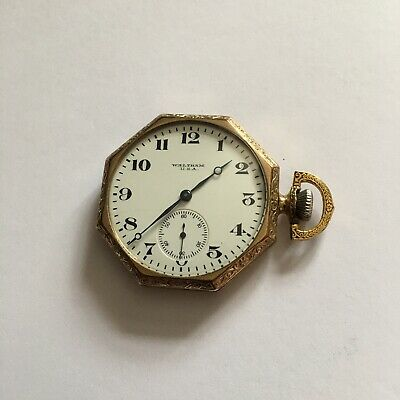 £4.95 • Buy Antique Gilt Waltham Sidewinder Pocket Watch  Late 19thc In Very Nice Condition