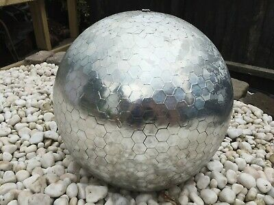 £29 • Buy Silver Chrome Pottery Ball Garden Water Feature