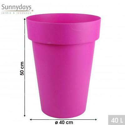 £9.99 • Buy Large Round Plant Pots Tall Flower Pot Planters Pink