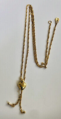£30 • Buy 40cm Fine Gold Chain Stamped 375 Italy With Small Heart( No Stamp)