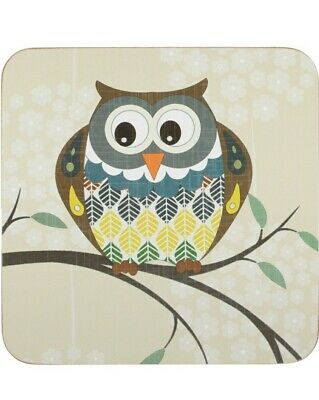 £7.99 • Buy Set Of 6 Owl Coasters Dining Table Coffee Table Protection