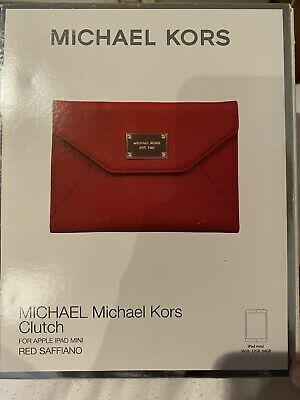 £2 • Buy Michael Kors, Ipad Mini Red Leather Case, Good Condition.